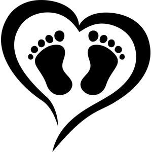 New Baby Feet Clipart.