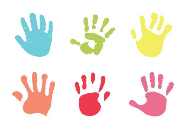 Free Baby Hand Print Vector Illustration.