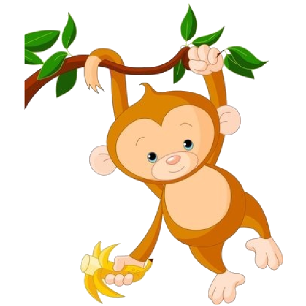 Cute Baby Monkey Clipart.