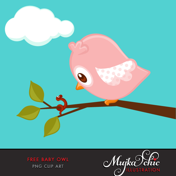 Free Baby Owl Clipart.