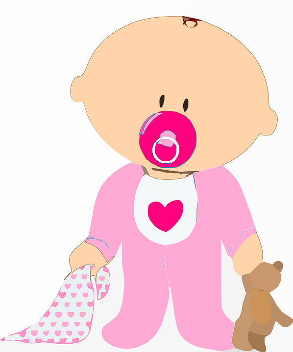Free vector graphic: Baby, Infant, Toddler, Pacifier.