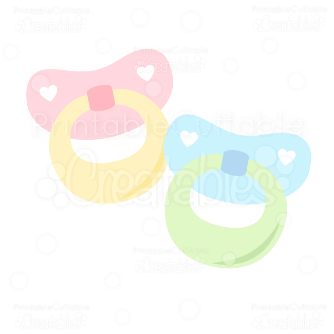 Free Baby Pacifier SVG.
