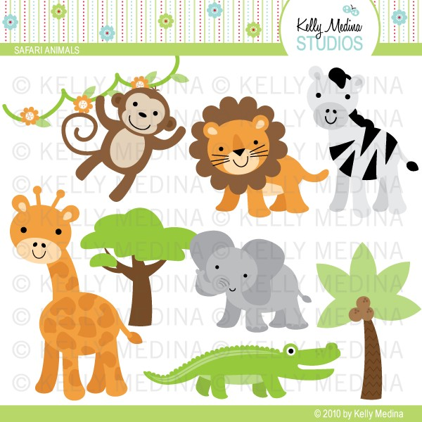 Free Clipart Safari Animals.