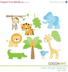 Free baby safari animals clipart 4 » Clipart Station.