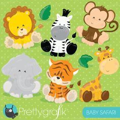 Free baby safari animals clipart 7 » Clipart Station.