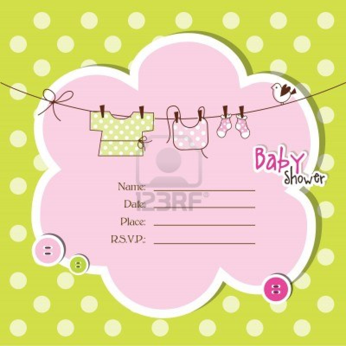 Baby shower invitation clipart 8 » Clipart Station.