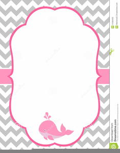 Baby Shower Invitation Clipart.