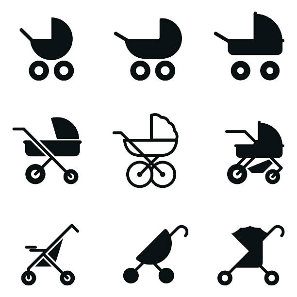 Best Baby Stroller Illustrations, Royalty.