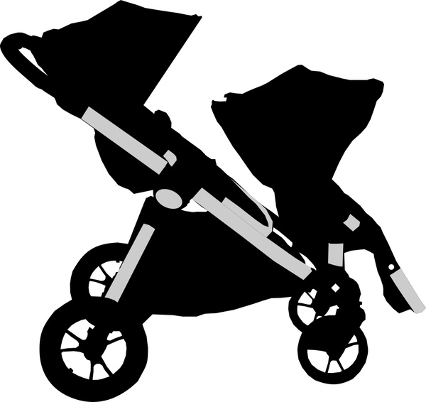 Baby stroller vector Free vector in Encapsulated PostScript eps.