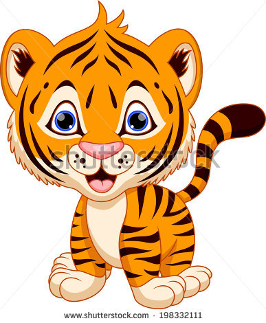 Baby Tiger Cartoon Stock Images, Royalty.