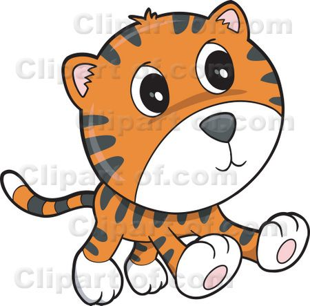 Cute Baby Tiger Clipart.