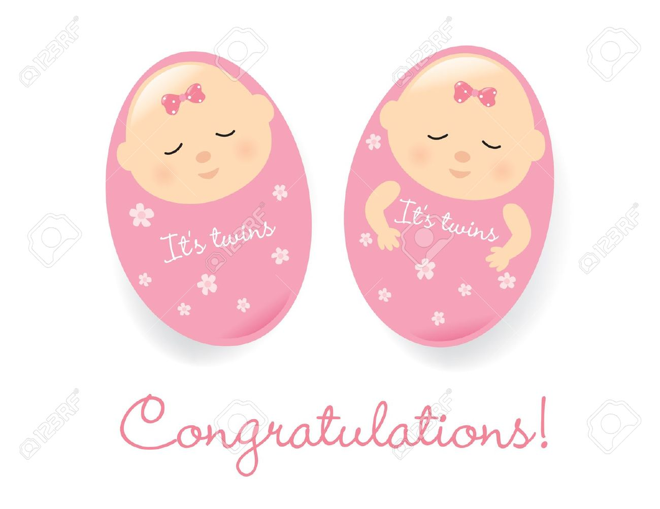 Free Clipart Baby Girl Twins.