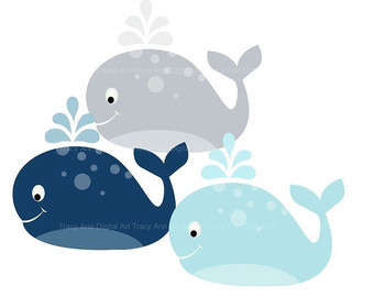 Baby Shower Whale Clipart.