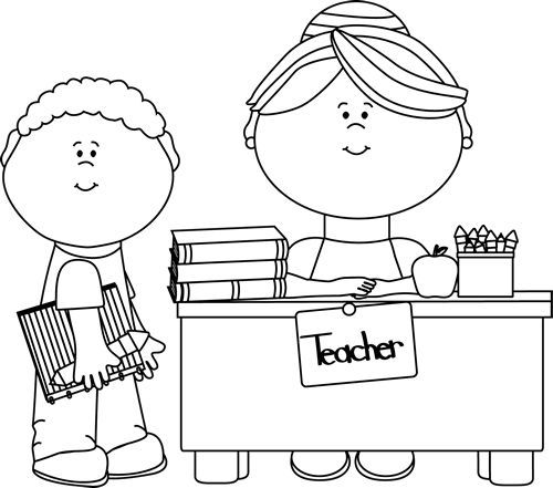 kids free clipart black and white.