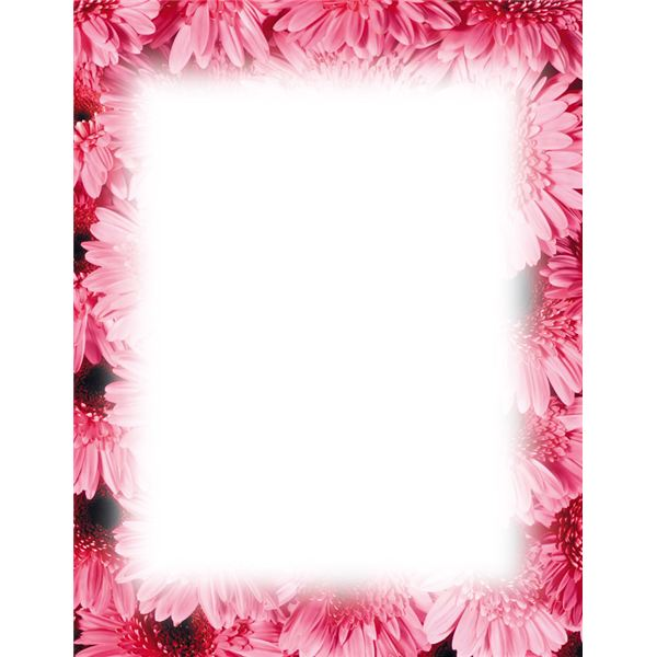 free flower borders for word document #20