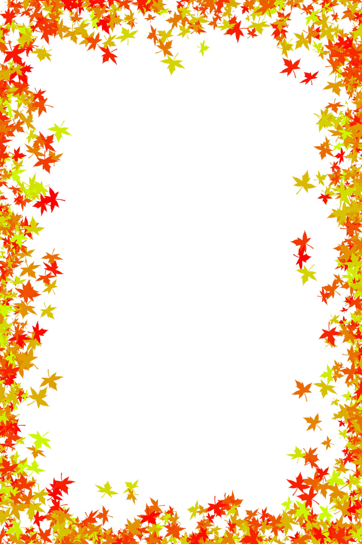 Fall Foliage Border Free.