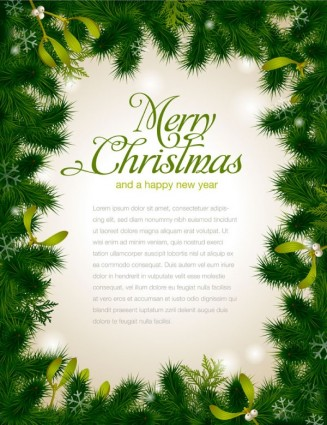 Beautiful christmas background borders 01 vector.