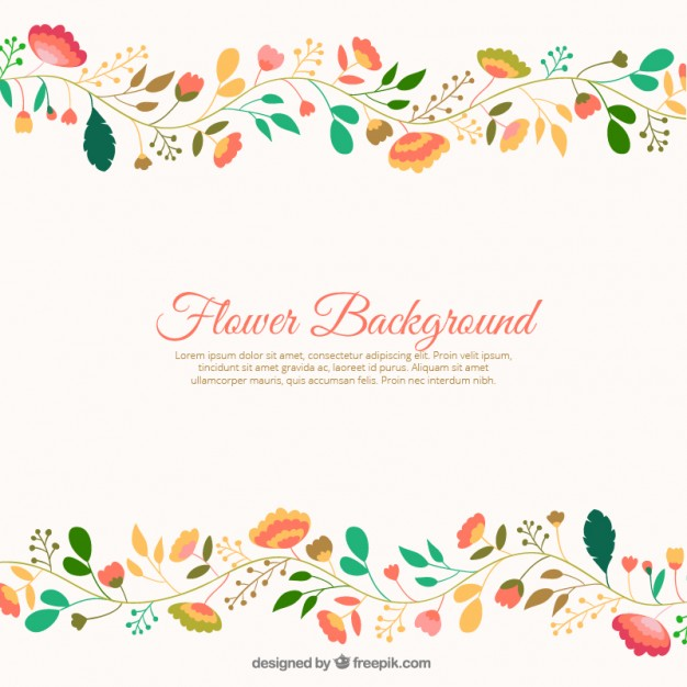 Cute flowers background Vector.