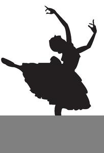 Ballerina Clipart Silhouette.