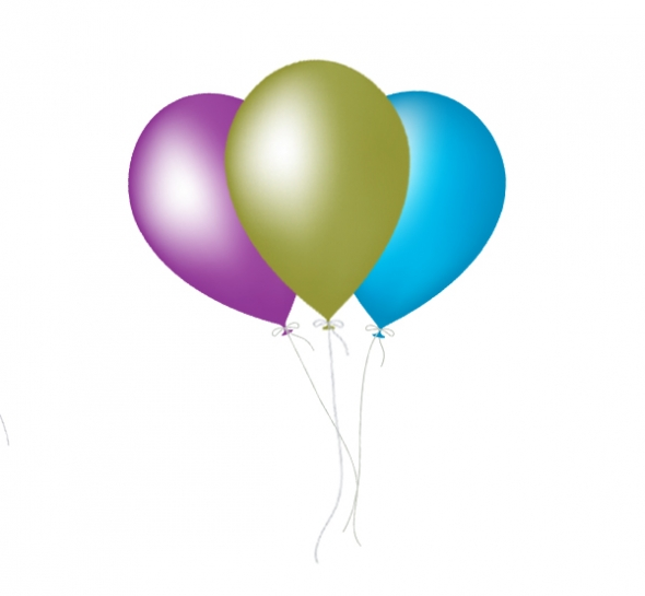 Birthday Balloons Clip Art Free: Single Birthday Balloons Clipart