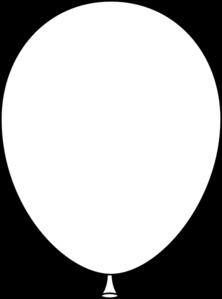 White Balloon clip art.