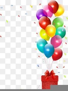 Birthday Balloon Clipart Border.