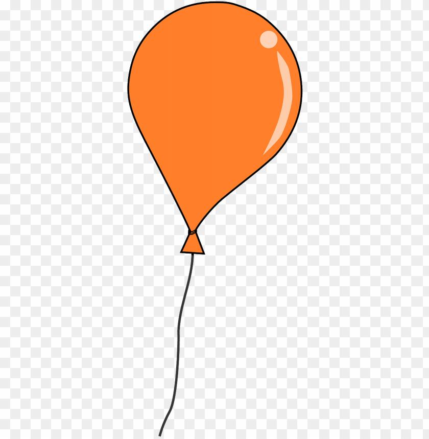 free orange balloon clip art.