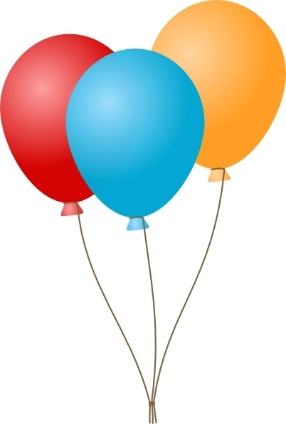Balloons clip art Free vector in Open office drawing svg.