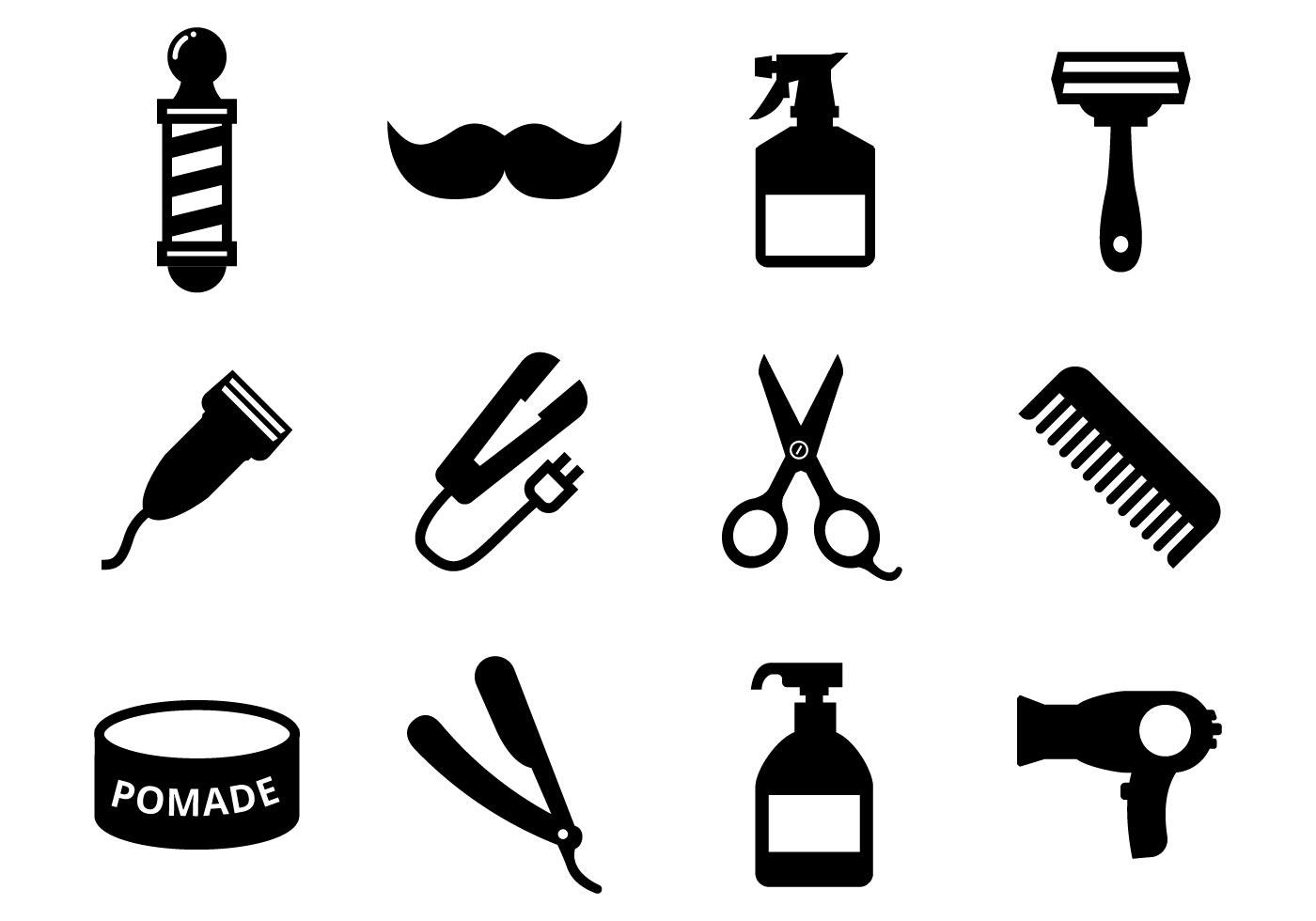 Barber Shop Free Vector Art.