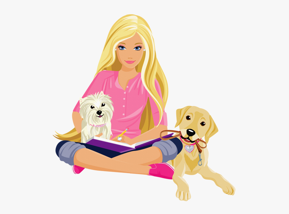 Barbie Clipart Name Tag.