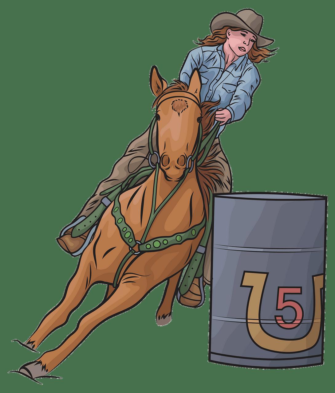 Horse Barrel Racing clipart. Free download..