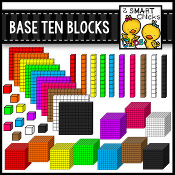 Base Ten Blocks Clip Art {Math Center Manipulatives}.