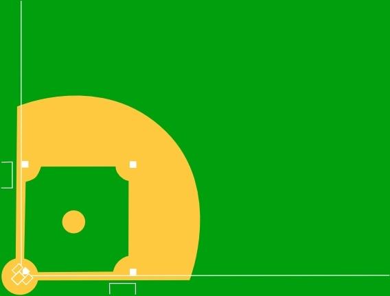 Baseball Diamond clip art Free vector in Open office drawing.