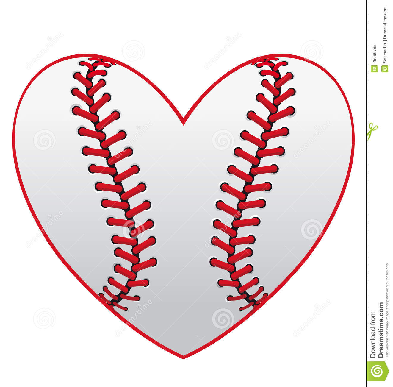 Baseball Heart Clipart Free.