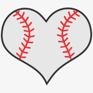 Transparent Baseball Heart Png.