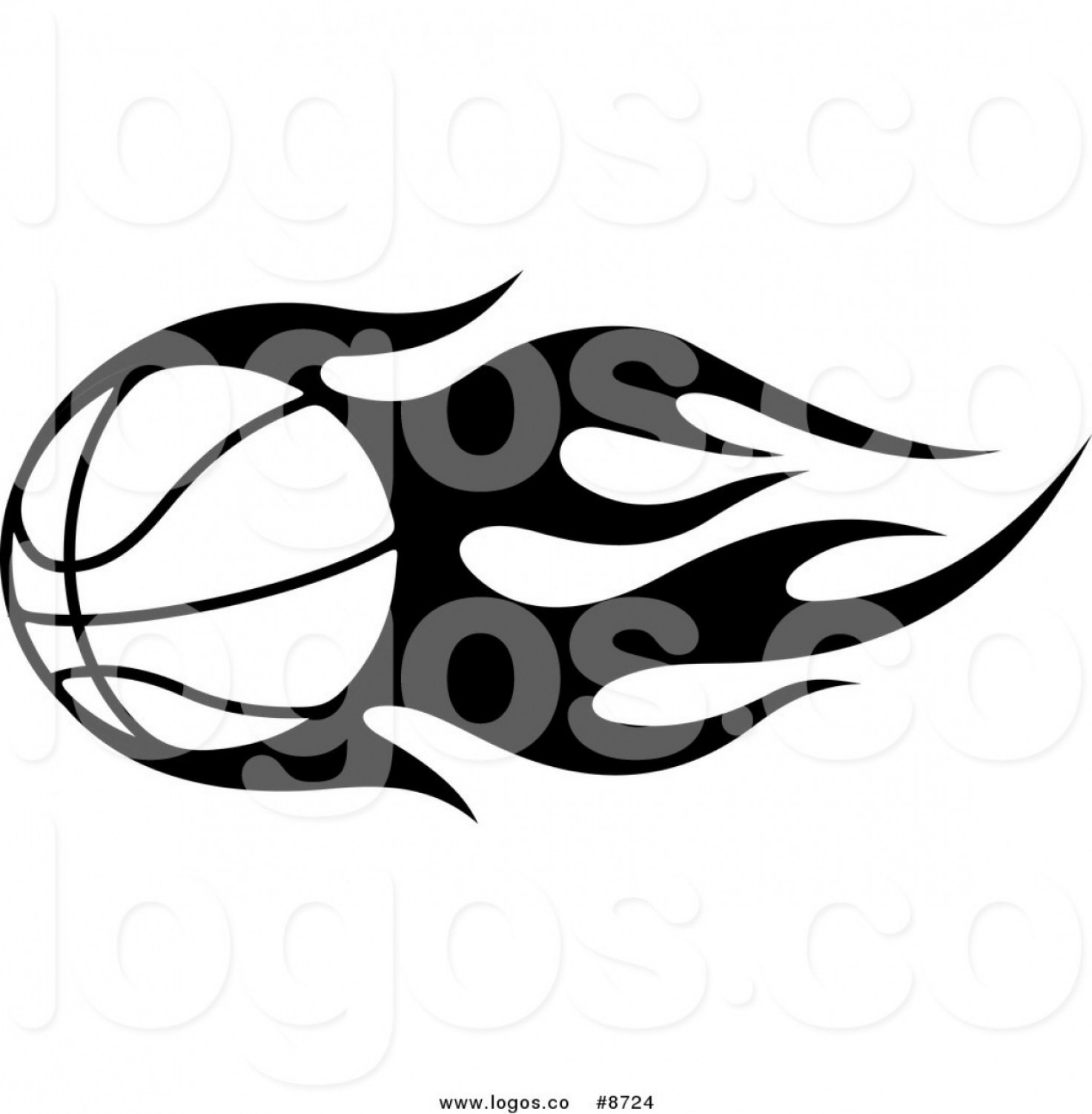 Royalty Free Clip Art Vector Black And White Tribal Flaming.
