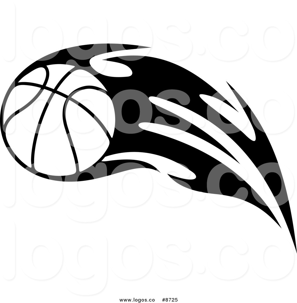 Royalty Free Clip Art Vector Black and White Logo of a Tribal.