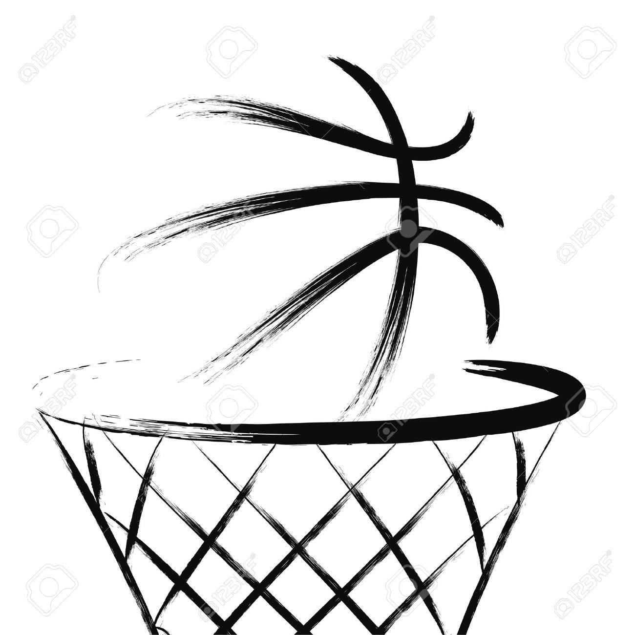 Basketball, vector.