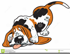 Cartoon Basset Hound Clipart.