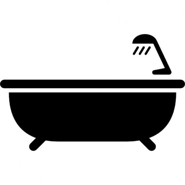 Bath tub with shower Icons.