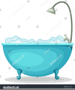 Vintage Bathtub Clipart.