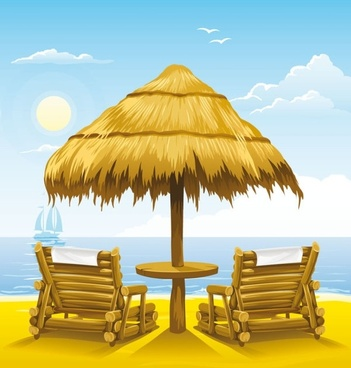 Beach chair clipart free vector download (4,367 Free vector.