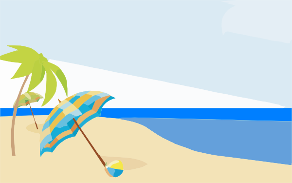 Beach Cliparts Backgrounds.
