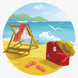Free Beach Background Clip Art with No Background.