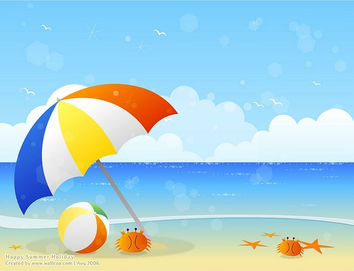 245 Beach Scene free clipart.
