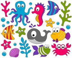 Ocean Themed Clipart.