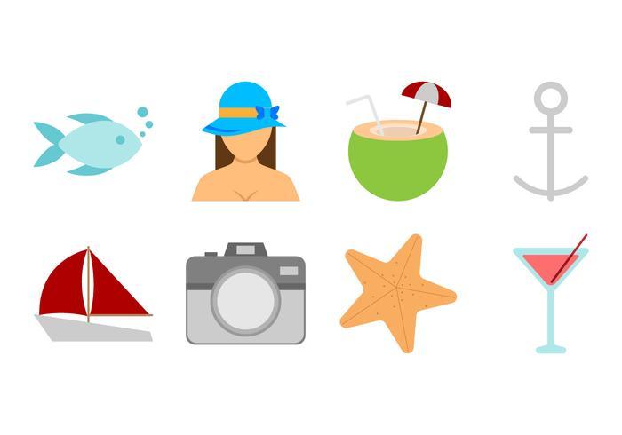 Free Beach Theme Icon Vector.