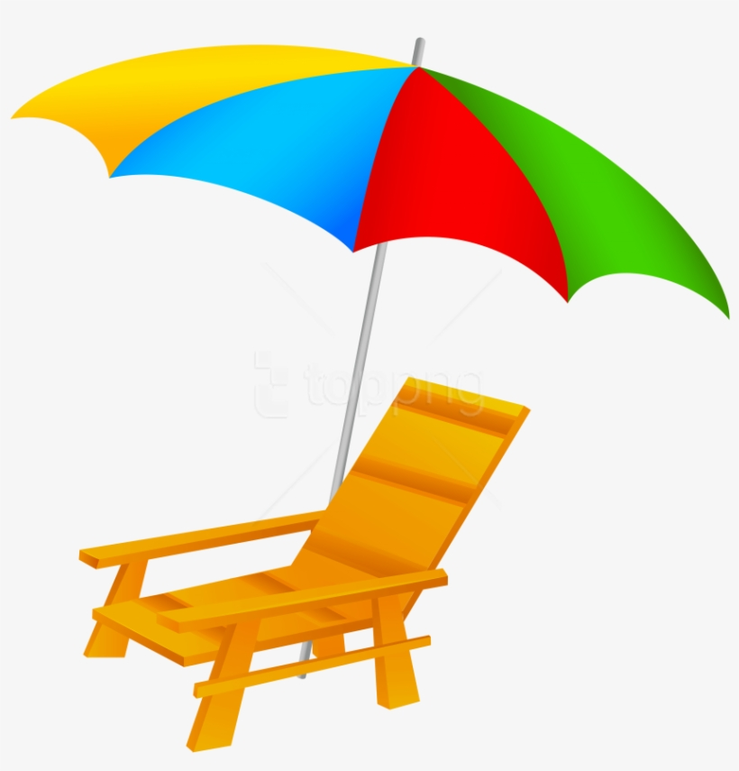 Free Png Download Beach Umbrella And Chair Clipart.