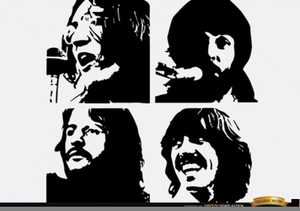Beatles Band Clipart.