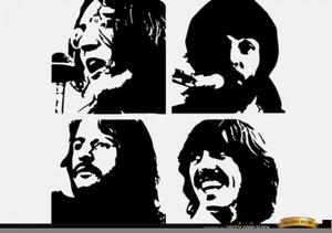 Beatles Band Clipart.
